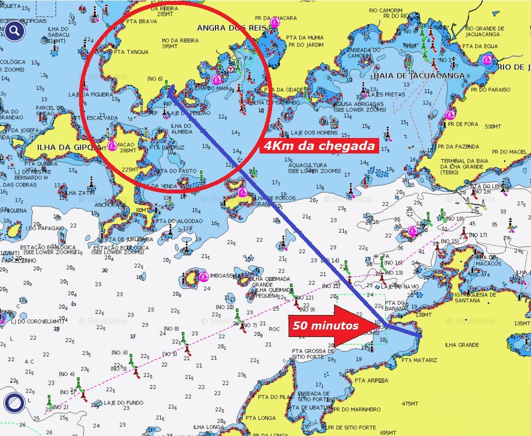 FIG 2019 - Carta náutica com pontos de corte